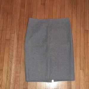 J Crew #2 pencil skirt gray/blue